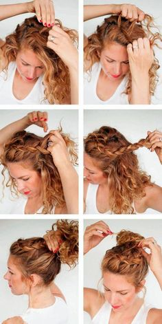 Wedding Hairstyles Elegant Make Up is part of Chic Wedding Hair Updos For Elegant Brides brazilian jerry curl hair unice - Curly Hair Braids, Curly Hair Tips, Curly Hair Braid Styles, Easy Curly Updo, Hair Romance Curly, Curled Hairstyles For Medium Hair, Unice Hair, Wavy Hair, Tame Curly Hair