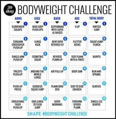 See amazing results in just 30 days with this total body workout plan. Tone your entire body with this workout plan you can easily do at home or at the gym. Get the results you want in no time with this fat-burning workout challenge.
