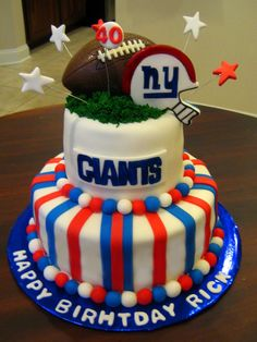 Football themed Birthday Cake- I would definitely make mine Steelers or Dolphins!!