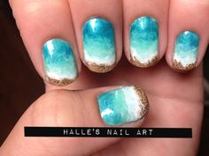 Beach nails by Halle Butler