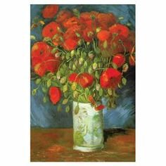 """Canvas reproduction of Vincent van Gogh's """"Red Poppies."""" Made in the USA.    Product: Canvas printConstruction Material: Canvas and woodFeatures:  Made in the USAReady to hang"""