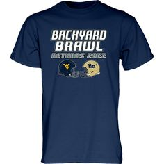 It's back, but with more excitement than ever! That's right, the Backyard Brawl is returning in 2022. Make sure you get this comfortable shirt that helps you express your enthusiasm for its return.  If you're as psyched as we are about the return of the Backyard Brawl, you can share your enthusiasm with the world with our tee featuring the WVU and Pitt football helmets