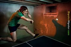 Hipster playing table tennis - As long as you can do it in a basement, hell love it