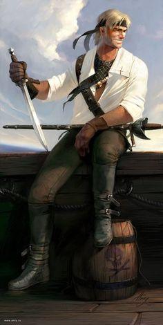 Half-elf pirate