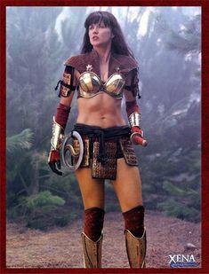 Lucy Lawless as Xena Warrior Princess, sixth and last season Lucy Lawless, Warrior Princess Costume, Paddy Kelly, Warrior Girl, Badass Women, Celebs, Celebrities, Female Characters, Movie Stars
