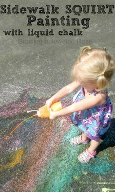 Summer Fun with Sidewalk Chalk ~ Growing A Jeweled Rose