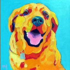 a Golden Lab by Marion Morrison