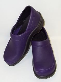 Women's Sanita Danish Design Professional Leather Purple Clogs Shoes Size 37/A