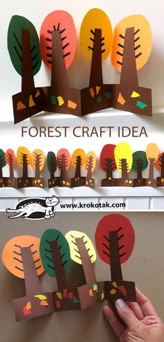 Kids Crafts, Fall Crafts For Kids, Thanksgiving Crafts, Toddler Crafts, Art For Kids, Arts And Crafts, Easy Crafts, Fall Art Projects, Projects For Kids