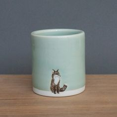 Fox Tumbler Medium Celadon now featured on Fab.