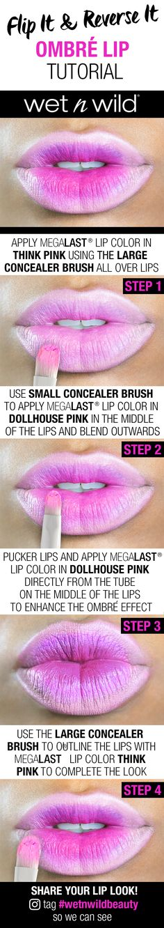 Wild Ones, would you rock this FIERCE lip?  Grab a friend and learn how to blend to conqueror this hot ombré lip trend!