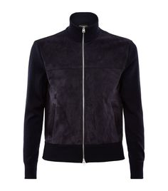 TOM FORD Suede Front Cardigan | Harrods