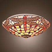 Dragonfly Mini taklampe 3 Lights Tiffany stil... – NOK kr. 1.414