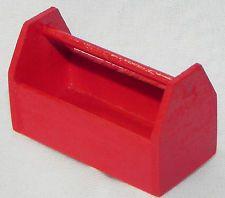 Dollhouse Miniature Tool Box - Red Wood Garage Island Crafts 1:12 Scale