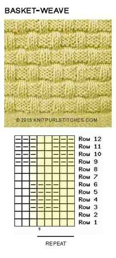 basket-weave-pattern-3. Only Knit and Purl