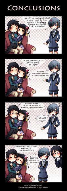 Ranmao is always on Lau's lap! Its desturbing!
