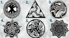 Διάλεξε το Κέλτικο σύμβολο που σου τράβηξε την προσοχή και δες τι κρύβει για σένα! Celtic Art, Runes, Vikings, Mandala, Horror, Playing Cards, Painting, Inspiration, Celtic Knots