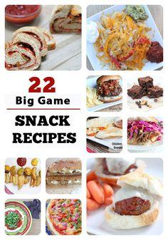 22 Big Game Snack Recipes from 5DollarDinners.com