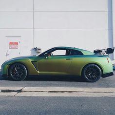Satin green Nissan GTR http://autopartstore.pro/AutoPartStore/