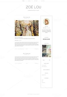Zoe Lou - Clean WordPress Theme by Mlekoshi Playground on Creative Market