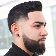 Here's how to add the beard fade to all lengths of facial hair. This cool look works with short and long haircuts as well as short and long beards. Quiff Haircut, Comb Over Haircut, Haircut Styles, Types Of Fade Haircut, High Fade Haircut, Cool Mens Haircuts, Cool Hairstyles For Men, Hairstyles Haircuts, Short Haircuts