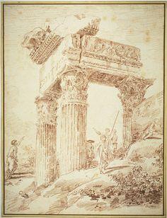 Temple of Vespasian Hubert Robert 1762