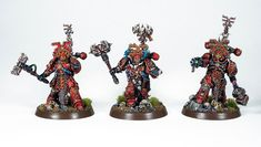 Showcase: World Eaters Exalted Champions by Uruk - Tale of Painters Warhammer Paint, Warhammer 40000, Warhammer Conquest, Dark Vengeance, Chaos 40k, Thousand Sons, War Dogs, Warhammer 40k Miniatures, Game Workshop