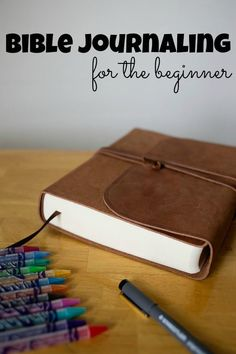 Bible Journaling for the beginner. 8 simple ways to get started today! Aren't artistic- there are great ways to use your journaling Bible anyway!- Big Family Blessings #BibleJournaling #IllustratedFaith #BibleJournal