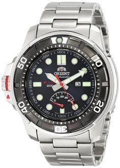 Men's Wrist Watches - Orient Mens SEL06001D0 MForce Beast SilverTone Watch *** Visit the image link more details.