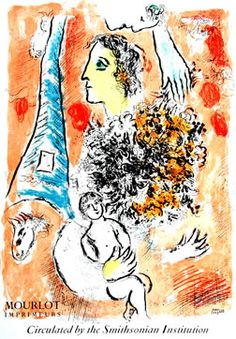 Marc Chagall poster: Offering to the Eiffel Tower
