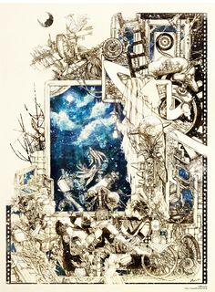 夜灯伝話 -幸子と幸人- Manga Illustration, Illustrations And Posters, Watercolor Illustration, Arte Indie, Cyberpunk Art, Victorian Art, Cool Artwork, Art Inspo, Art Sketches
