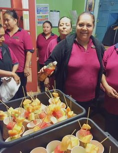 """Wild Palms Hotel hosted a """"Fruity Tuesday"""" party with drinks and badges for our housekeeping heroes!"""