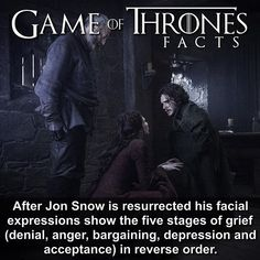 Game of thrones facts, Jon Snow Game Of Thrones Meme, Game Of Thrones Series, Carl The Walking Dead, Game Of Thrones Instagram, Got Characters, Stages Of Grief, Movies And Series, Got Memes, Got Quotes