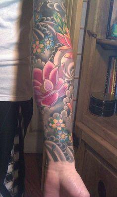 Kim Wells Tattooer: Japanese Sleeve