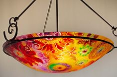Painted Chandelier by artist Jenny Floravita Painted Chandelier, Chandelier For Sale, Light Art, Abstract Art, Hand Painted, Artist, Inspiration, Beautiful, Biblical Inspiration
