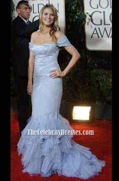 Heidi Klum Red Carpet Evening Gown Formal Dress 2010 Golden Globe Awards Celebrity Dresses