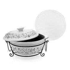 Cook's Companion™ Spring Collection Four-Piece Ceramic Oven-to-Table Casserole Set