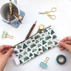 Travel Wallet Pencil Case Make Up Bag Mountain Cosmetic