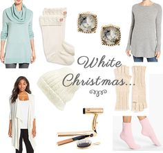 Affordable Gift ideas for her for the holidays...white christmas inspiration.