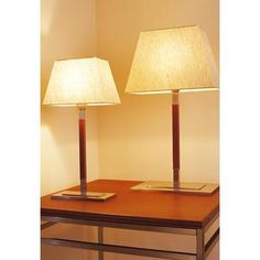 (CLICK IMAGE TWICE FOR UPDATED PRICING AND INFO) #home #homeimprovement #homedecor #lighting #lamps #lights #lightandfixture #tablelamps   see more table lamps at http://www.zbrands.com/Lamps-C40.aspx - Bover Lamps - Tau Table Lamp Size / Finish / Shade / Bulb Type: Small / Caramel Leather / Linen / Incand