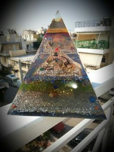 orgonite pyramid with 2 more pyramids inside coil sbb 6 quartz amethyst lapis Chrysopetro MOONSTONE positive energy generator for large space Yellow Quartz, Amethyst, Space, Beautiful, Floor Space, Amethysts, Spaces