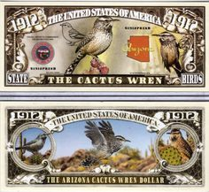 The Northern Cardinal Kentucky State Bird 1792 Novelty Money
