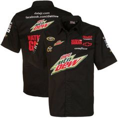 NASCAR Chase Authentics Dale Earnhardt Jr. Pit Crew Button-Up Shirt - Black (X-Large) by Football Fanatics. $64.95. Chase Authentics Dale Earnhardt Jr. Pit Crew Button-Up Shirt - BlackTackle twill lettering & logosImported60% Cotton/40% PolyesterSnap button closureLightweight button-up shirtQuality embroideryOfficially licensed Dale Earnhardt Jr. shirtMesh jersey knit body lining60% Cotton/40% PolyesterLightweight button-up shirtQuality embroideryTackle twill lettering ...