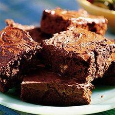 Chocolate-Glazed Brownies Recipe | MyRecipes.com