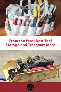 From the Pros: Best Tool Storage and Transport Ideas Construction Tools, Tool Storage, Organization Hacks, Hand Tools, Transportation, Ideas, Thoughts, Shed