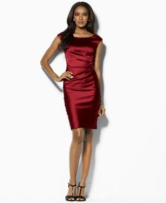 Lauren by Ralph Lauren Dress, Sleeveless Satin Sheath---I have this dress and I love it!