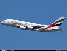 Airline: Emirates Aircraft: Airbus A380-861 Location: New York John F. Kennedy Int'l Airport - KJFK Country: USA - New York Registration: A6-EDP CN: 077 Photo Date: March 22, 2015 By: Joe Osciak NYCAviation.com Added: Apr 14, 2015 http://www.jetphotos.net/photo/8007074