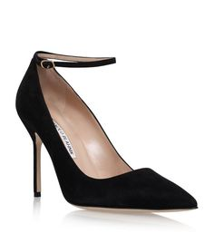 3b90ec0578cfe Manolo Blahnik Suede BB Ankle Strap Pumps 105 available to buy at  Harrods.Shop women's