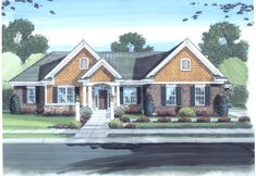 This beautiful 3 bedroom Ranch home offers wonderful amenities.  House Plan # 161235.