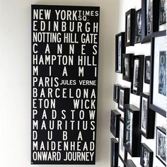 Personalised Destinations Bus Blind Canvas